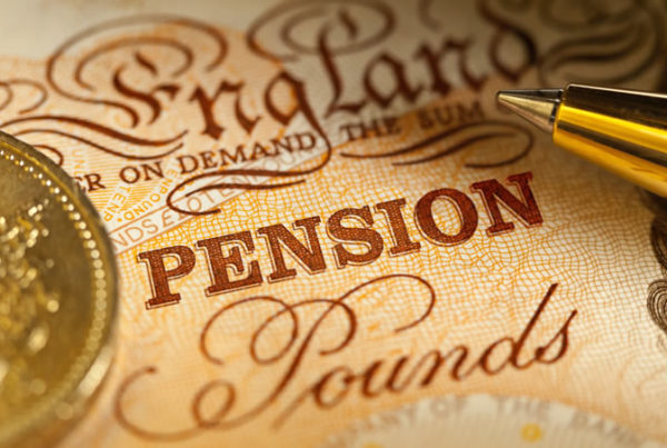 "The word ""pension"" on nice, browned paper"