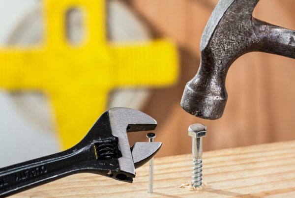 Hammer and nail, illustrating mistakes in retirement planning