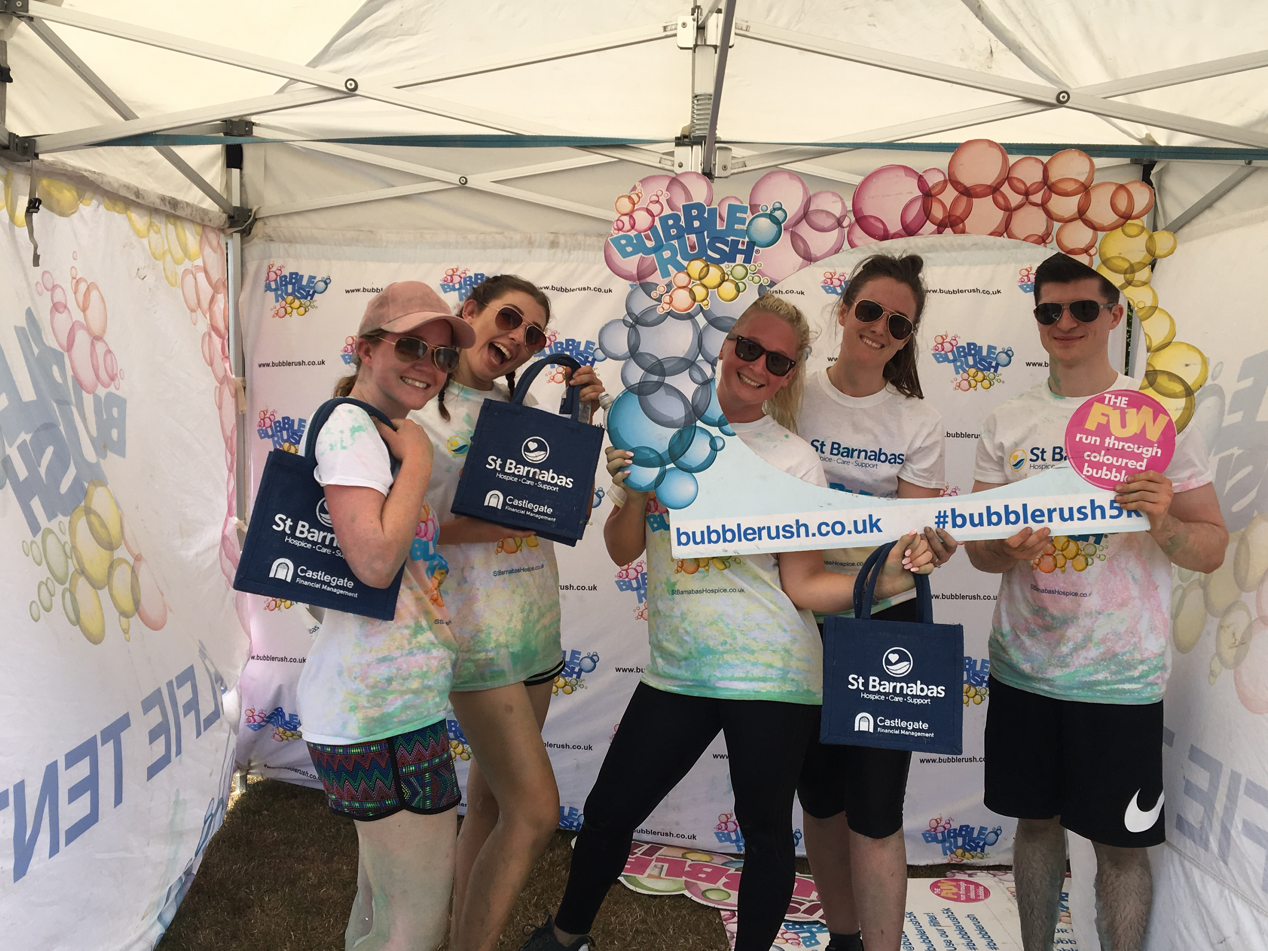 Bubble Rush Charity Event